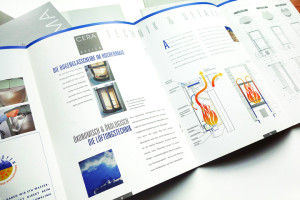 CERA Design, Produktbroschüre Kaminöfen, Konzeption, Gestaltung, Illustrationen