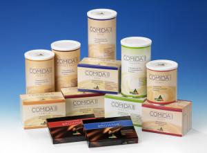 Relaunch Packungsdesign ComidaMed, Nahrungsergänzungsmittel/bilanzierte Diät
