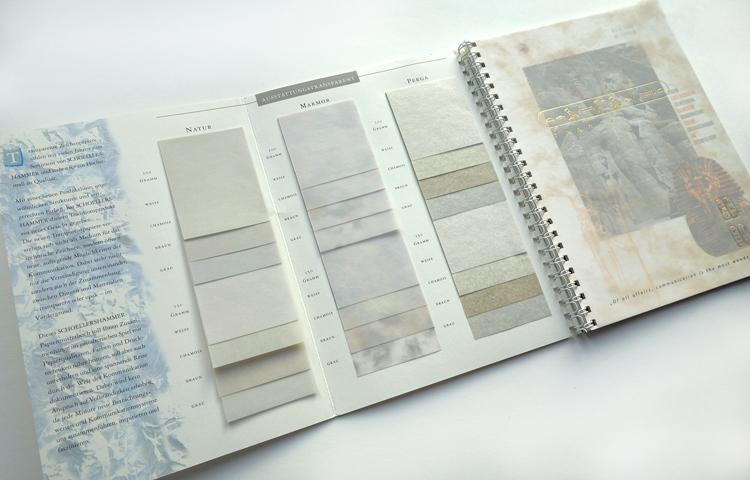 Papierfabrik Schoellershammer, Musterbuch für Transparentpapiere/Musterseite